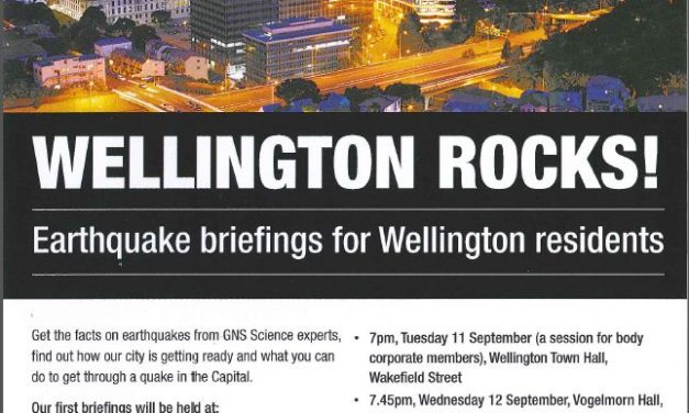 Earthquake Resilience Briefing for Thorndon Residents – 5 September
