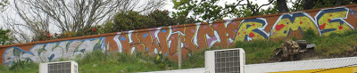 Graffiti vandals attack wall again