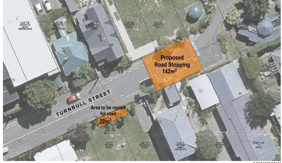 Road stopping proposal 19-24 Turnbull Street, Thorndon